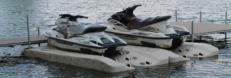 Installing Jet-ski docks and watercraft floats