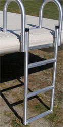 Otter Island swim float ladder